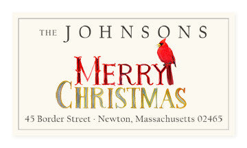 Merry Merry - Panoramic Return Address Labels