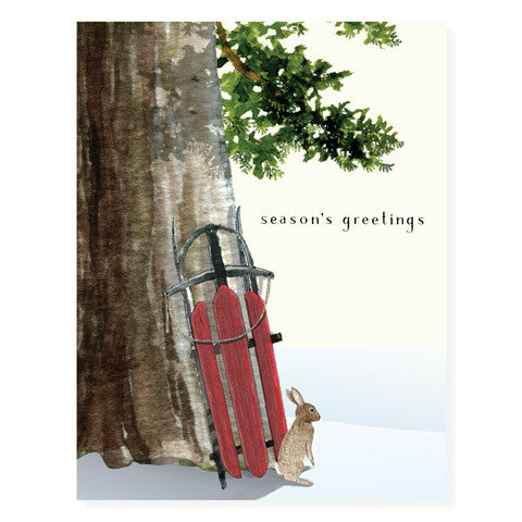 Leaning Sled - Occasion Card