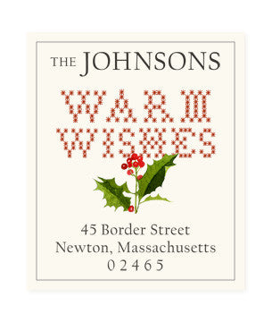 Warm Wishes - Return Address Labels