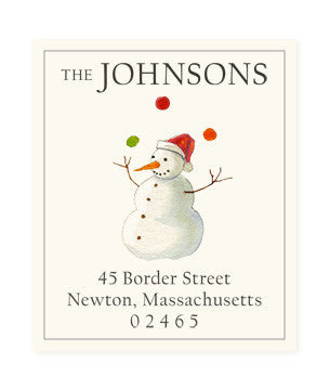 Gifted Snowman - Return Address Labels