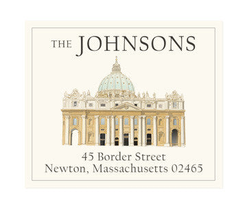 From Rome with Love - Return Address Labels