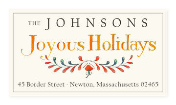 Joyous Holidays - Panoramic Return Address Labels