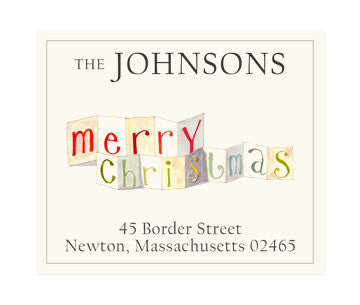 Merry Christmas - Return Address Labels