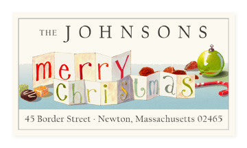 Merry Christmas - Panoramic Return Address Labels