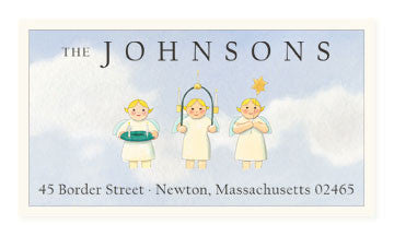 Three Wise Girls - Panoramic Return Address Labels
