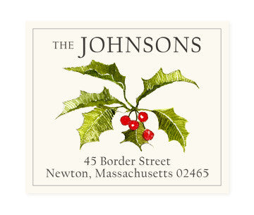 Christmas Holly - Return Address Labels
