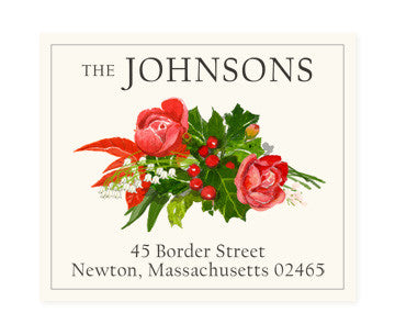 Holiday Arrangement - Return Address Labels