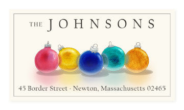 Holiday Ornaments - Panoramic Return Address Labels