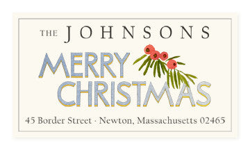Christmas Greetings - Panoramic Return Address Labels