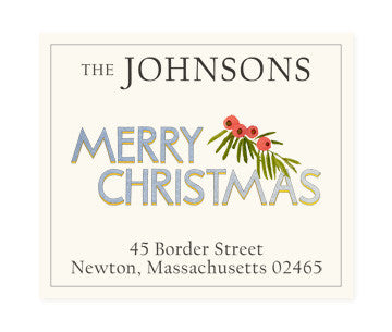 Christmas Greetings - Return Address Labels