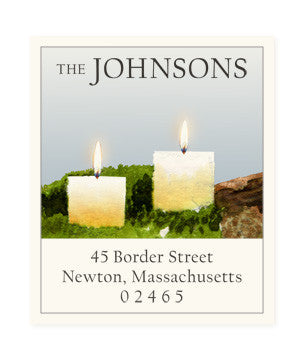 Holiday Light - Return Address Labels