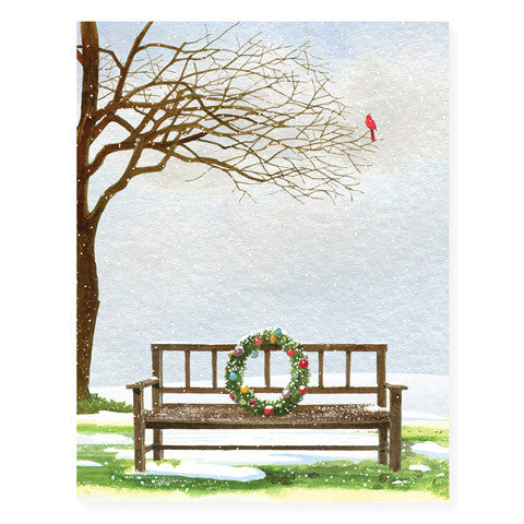 Snowy Wreath - Occasion Card