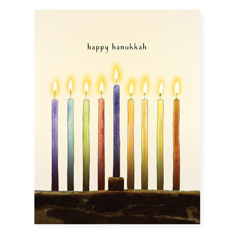 Hanukkah Candles - Occasion Card