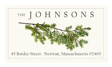 Evergreen Sprig - Panoramic Return Address Labels