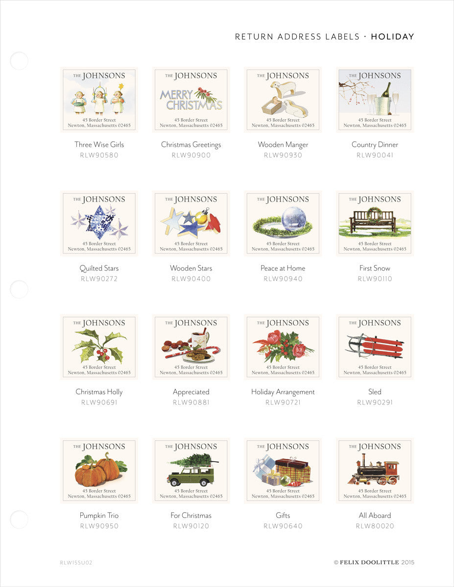 holiday address album page rlw15su02 felix doolittle marketplace