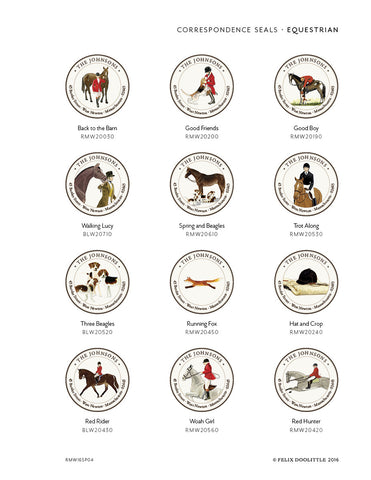 Address Album - Equestrian - Correspondence Seals