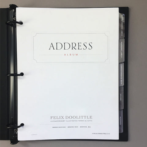 Tab Dividers | Address Album