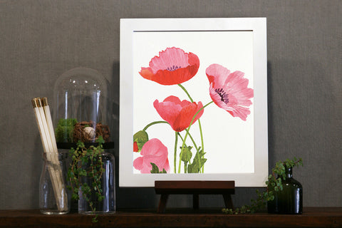 Art Print - Pink Poppies