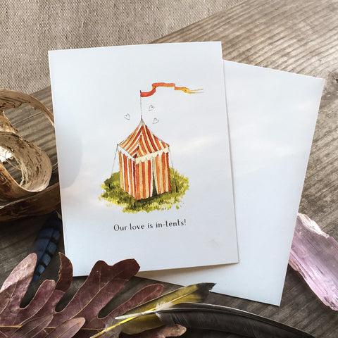 Occasion Card - In Tents Love