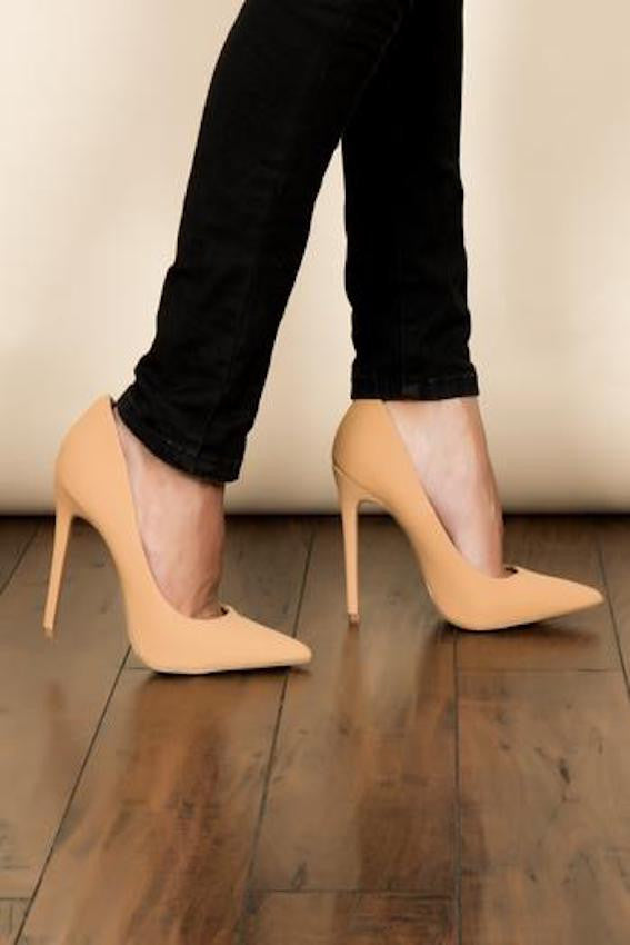 Camel Pumps , Shoes - Fashion Trend LA, Fashion Trend LA  - 1
