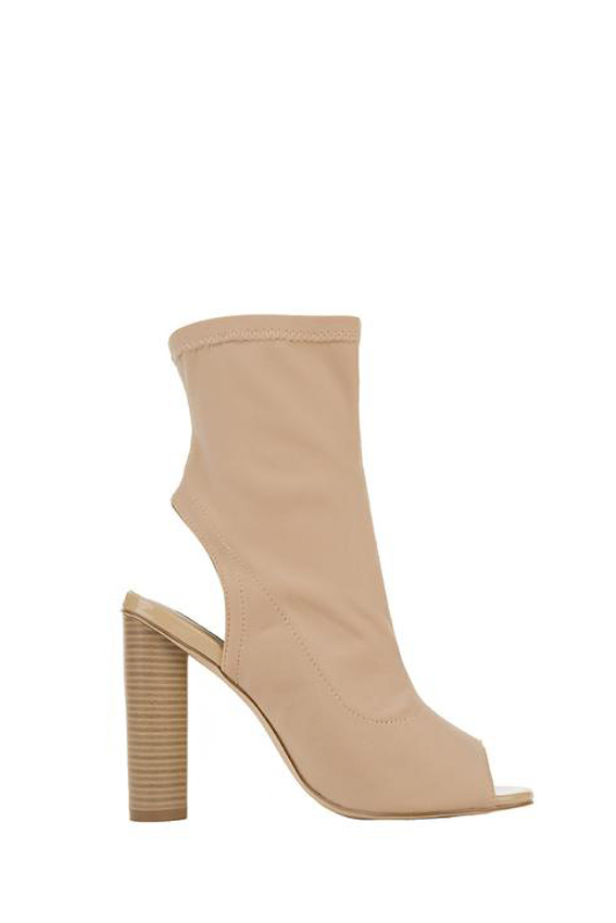 Raelena Peep-toe Ankle Boot 5.5 / Nude, Shoes - Fashion Trend LA, Fashion Trend LA