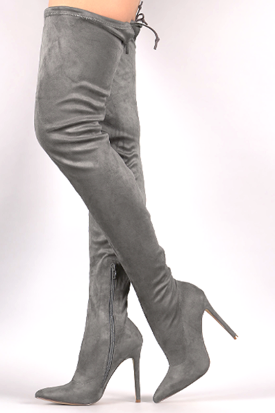 Vogue Thigh-high Boots 5.5 / Grey, Shoes - Fashion Trend LA, Fashion Trend LA  - 3