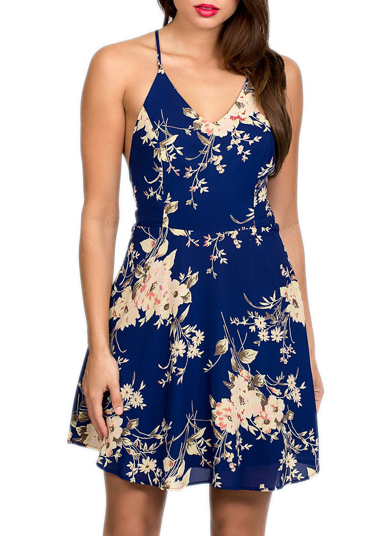 Floral Flare Dress , Dresses - Fashion Trend LA, Fashion Trend LA  - 1