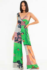 Amorette Abstract Jumpsuit
