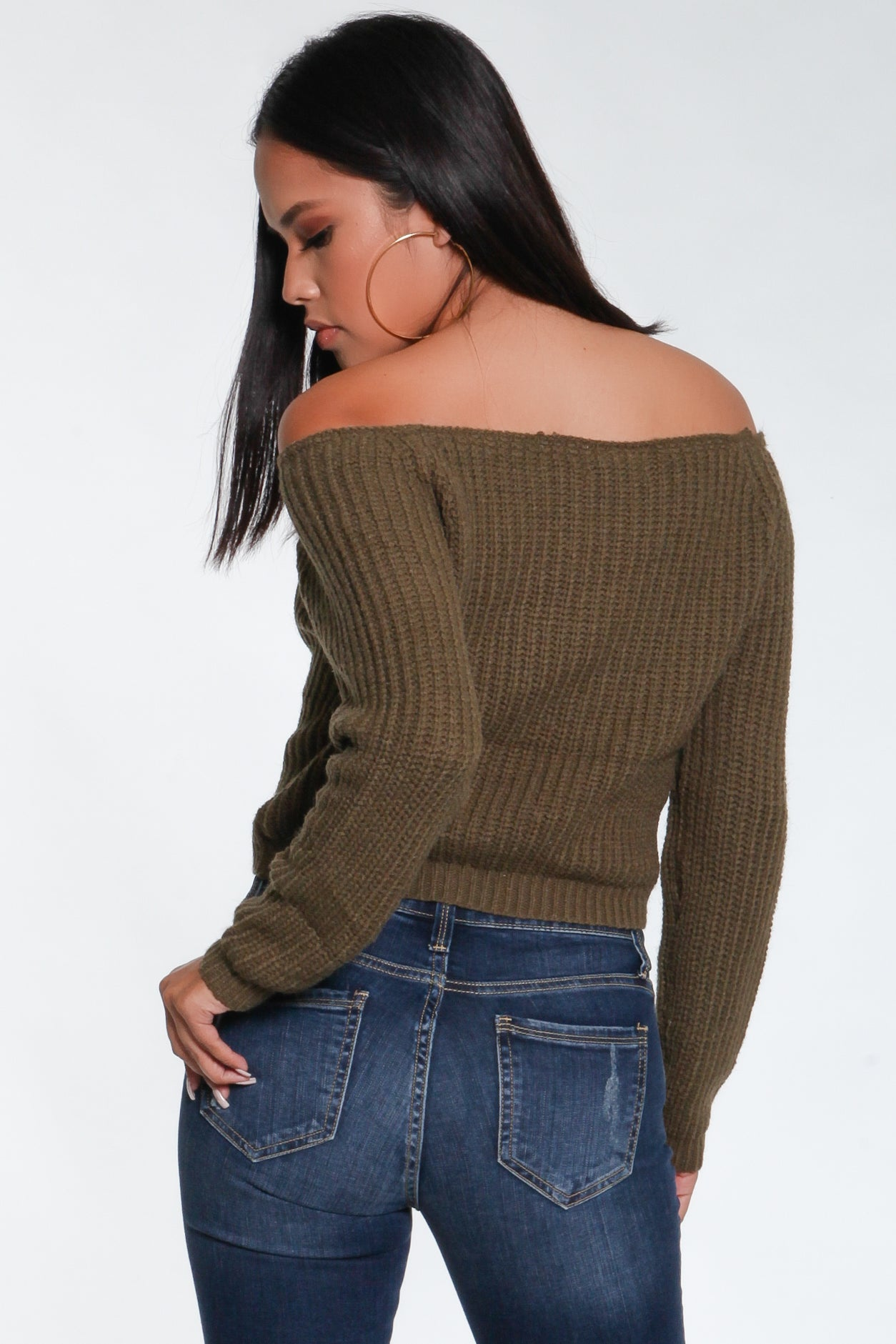 Arianna Off-The-Shoulder Sweater