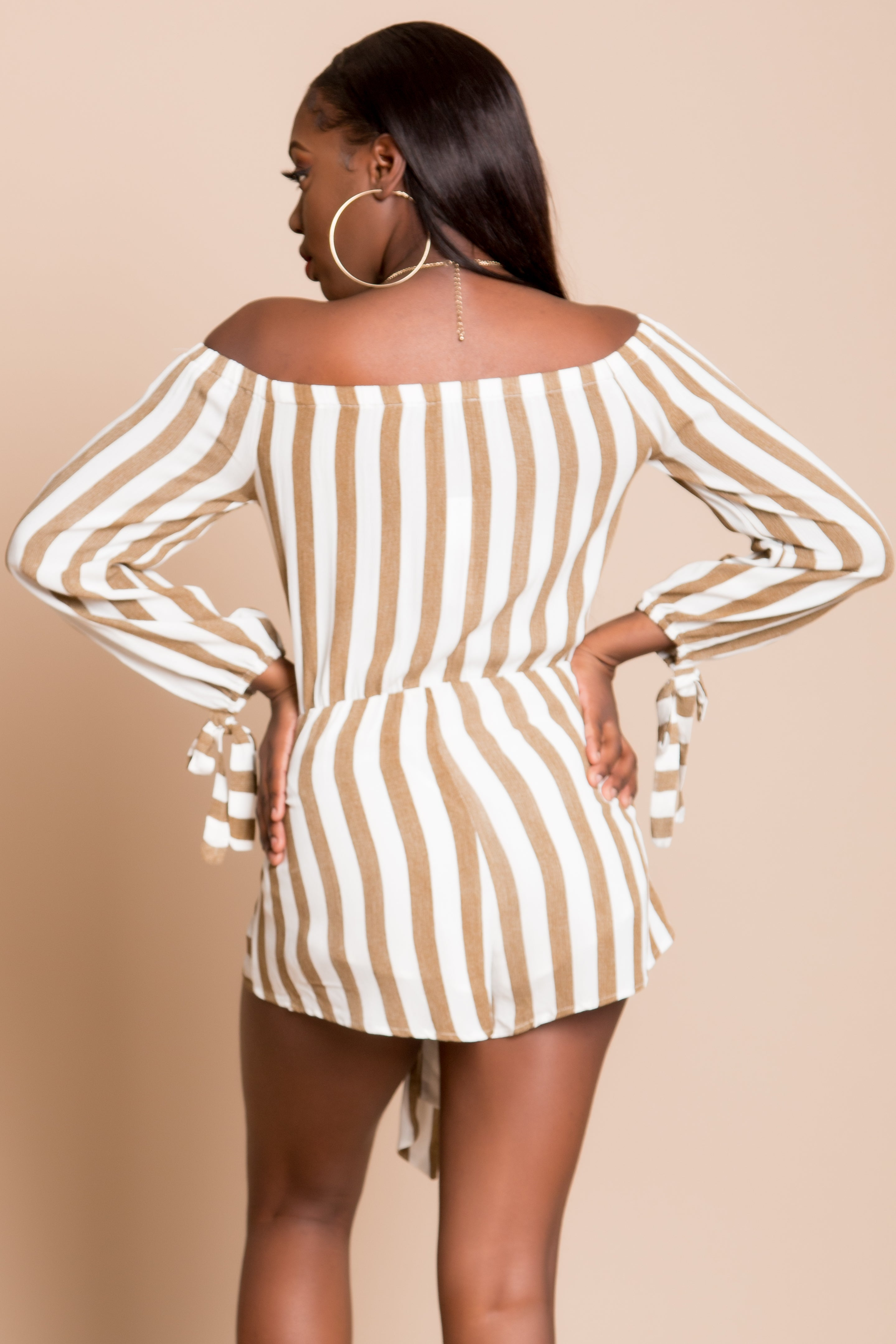 Ashley Striped Romper