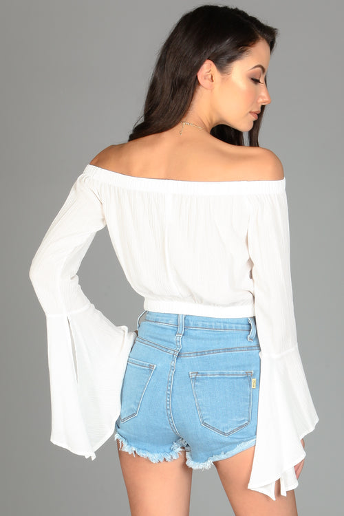 Bella Off Shoulder Crop