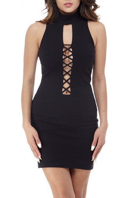 Black Detail Front Mini Small, Dresses - Fashion Trend LA, Fashion Trend LA  - 1