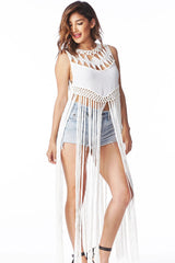 Boho Fringe Top Small, Tops - Fashion Trend LA, Fashion Trend LA  - 1