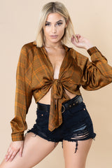 Candace Retro Wrap Top