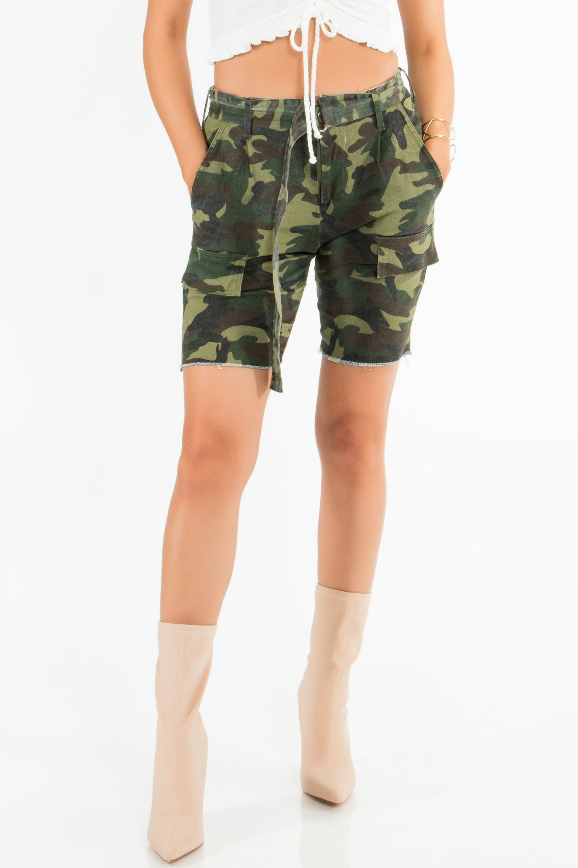 Candy Army Cut-Off Shorts