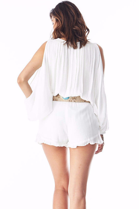 Christine Off White Romper , Rompers - Fashion Trend LA, Fashion Trend LA  - 3