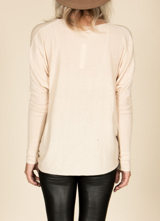 Cream Twist Front Sweater , Tops - Fashion Trend LA, Fashion Trend LA  - 3