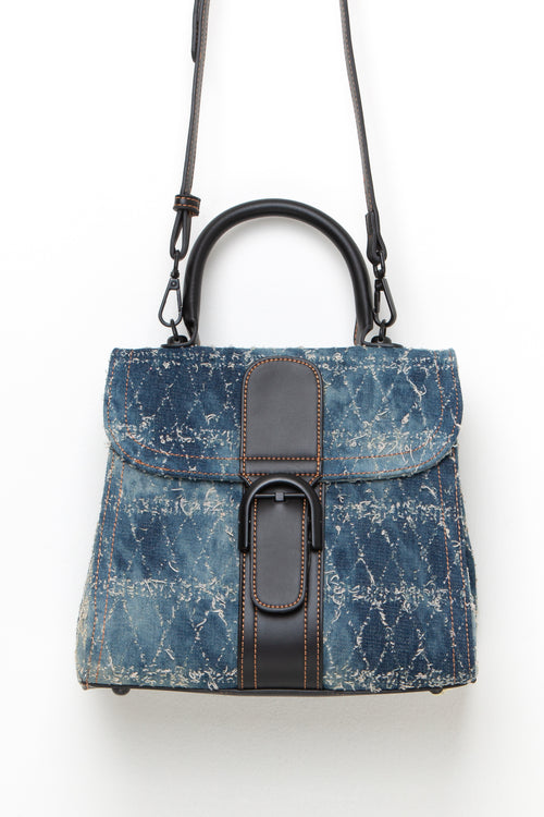Distressed Denim Handbag