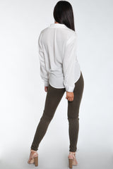 Edgy Front Lace-Up Leggings