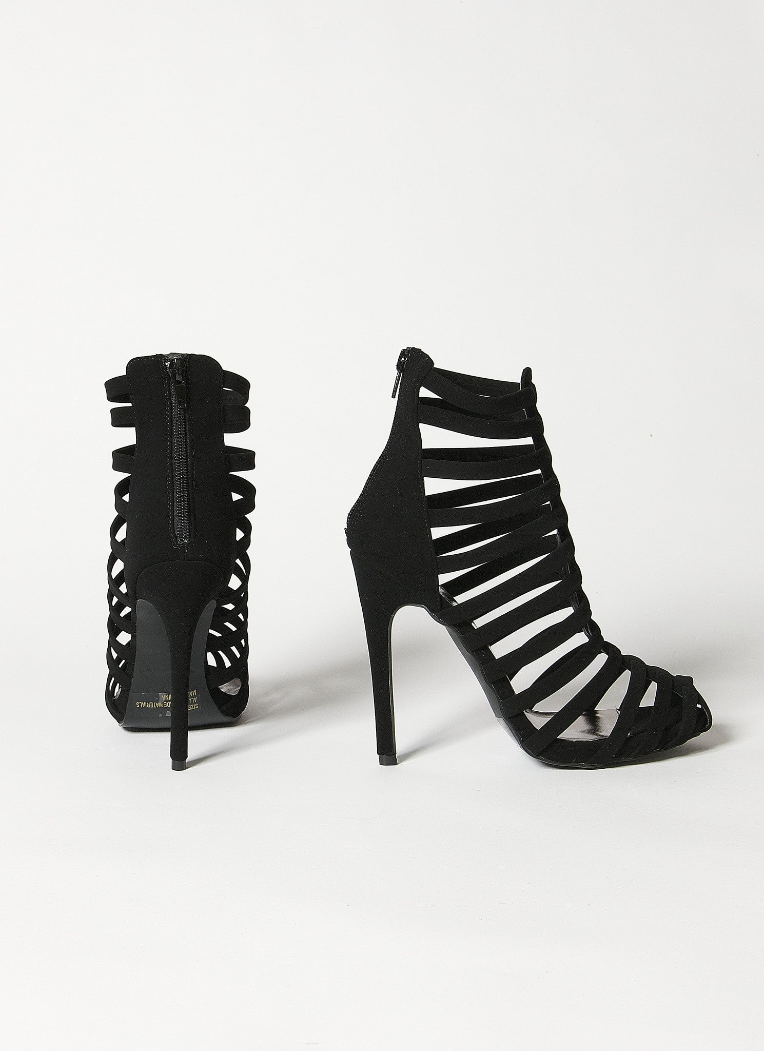 Glee Nobuckle Caged Heel , Shoes - Fashion Trend LA, Fashion Trend LA  - 2