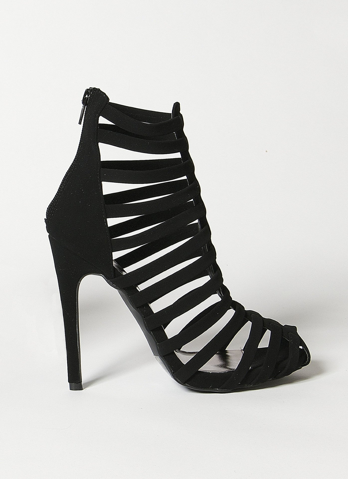 Glee Nobuckle Caged Heel 6, Shoes - Fashion Trend LA, Fashion Trend LA  - 1