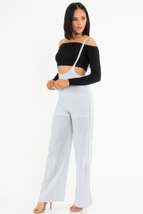 Gidget Striped Overall Jumpsuit