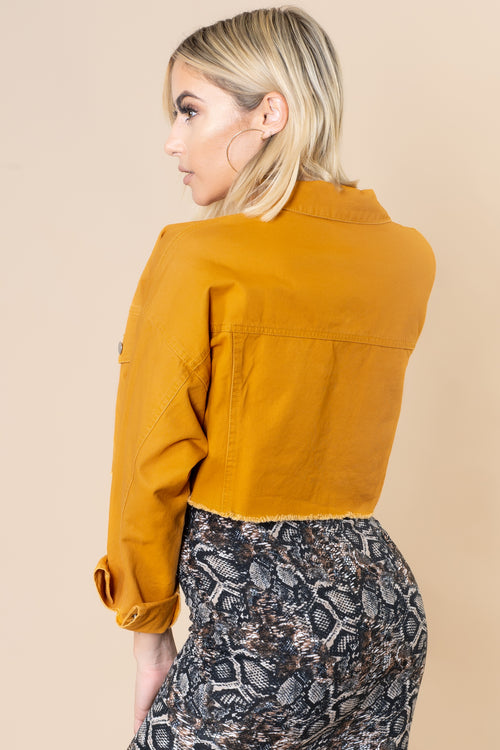 Golden Girl Cropped Jacket