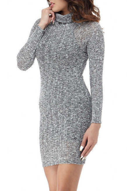 Grey Knit Mini , Dresses/Rompers - Fashion Trend LA, Fashion Trend LA  - 2
