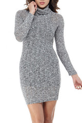 Grey Knit Mini Small, Dresses/Rompers - Fashion Trend LA, Fashion Trend LA  - 1