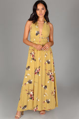 Halter Tropical Maxi Dress