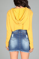 Honey Hoodie Crop Sweater