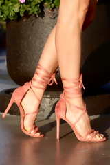 Paris Lace-Up Heels , Shoes - Fashion Trend LA, Fashion Trend LA  - 4