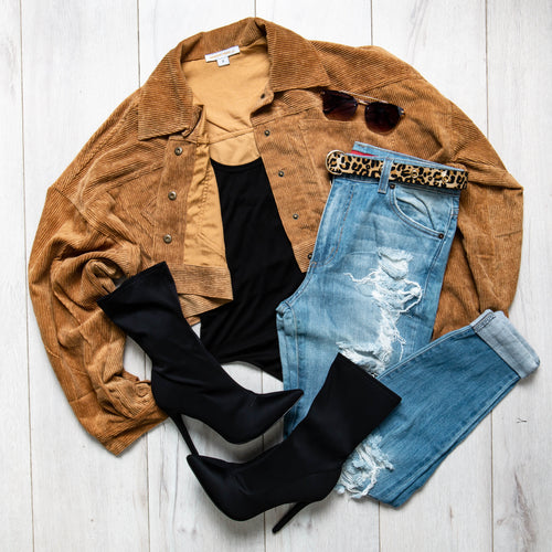 Cropped Corduroy Jacket