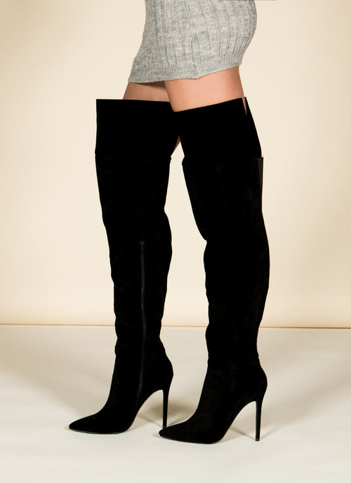 Black Thigh High Boots , Shoes - Fashion Trend LA, Fashion Trend LA  - 2